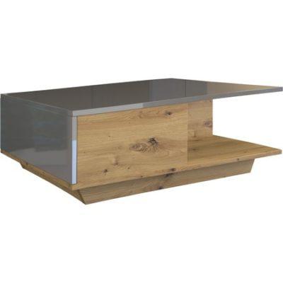 Konferenční stolek DENVER dub artisan/lesklý grafit