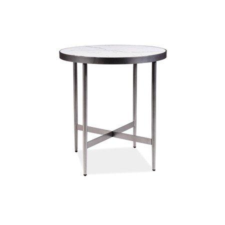 Konferenční stolek DOLORES C bílý mramor/šedá