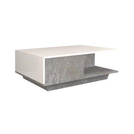Konferenční stolek Denver beton/bílá lesklá
