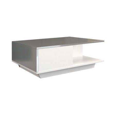 Konferenční stolek Denver bílý/grafit lesklý