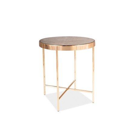 Konferenční stolek FORTUNA C mramor/zlatá