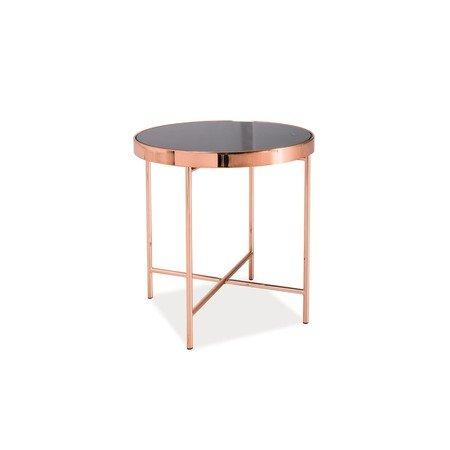 Konferenční stolek GINA C černá/měď