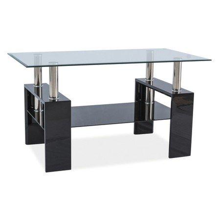 Konferenční stolek LISA III sklo/černý lesk