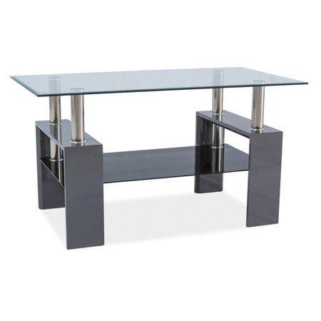 Konferenční stolek LISA III sklo/šedý lesk