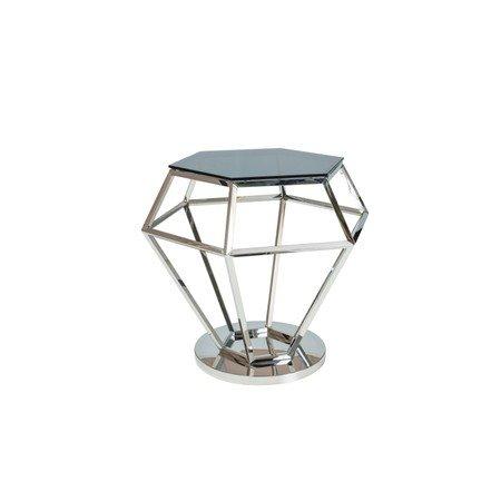 Konferenční stolek ROLEX sklo/stříbrná