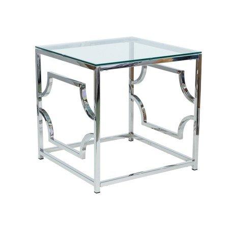 Konferenční stolek VERSACE B sklo/stříbrná