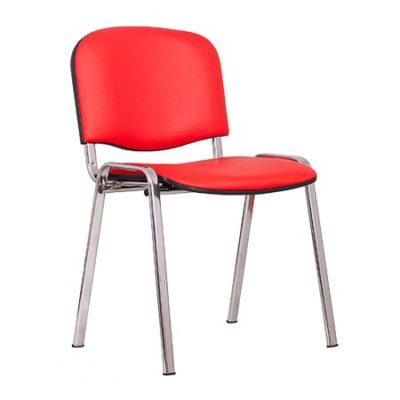 Konferenční židle ISO eko-kůže CHROM Černá D1 EKO