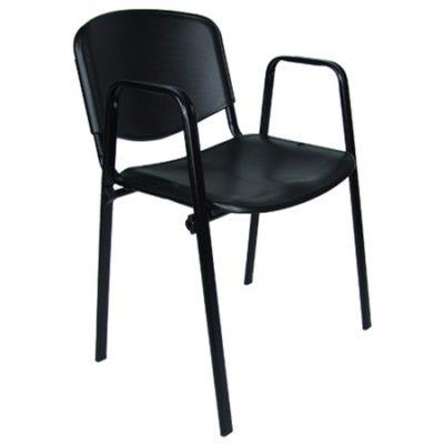 Konferenční židle ISO plastová s područkami RAL-1001