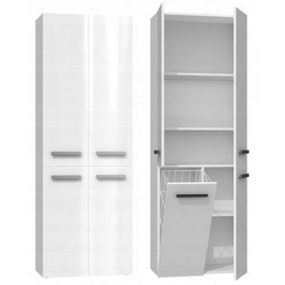 Koupelnová skříňka NEL DD 1K 60 cm bílý lesk