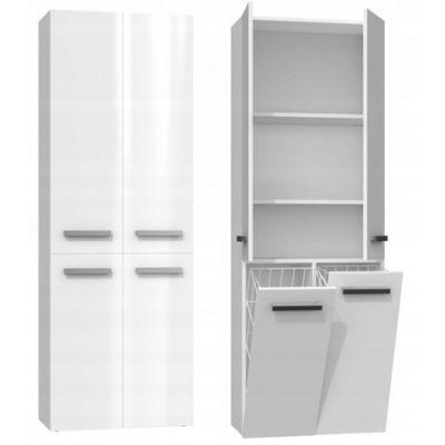 Koupelnová skříňka NEL DD 2K 60 cm bílý lesk