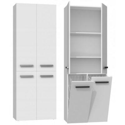 Koupelnová skříňka NEL DD 2K 60 cm bílý mat