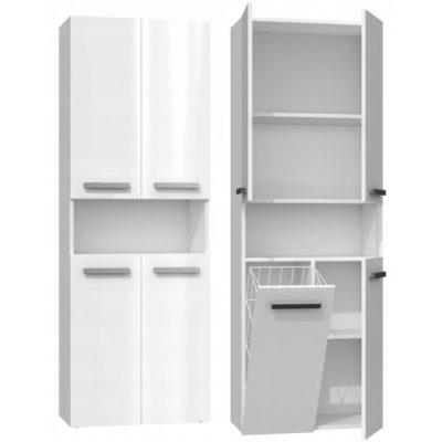 Koupelnová skříňka NEL DK 1K bílý lesk