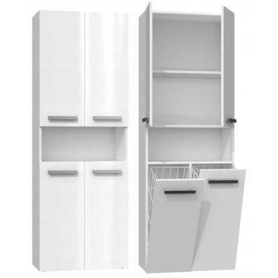 Koupelnová skříňka NEL DK 2K 60 cm bílý lesk