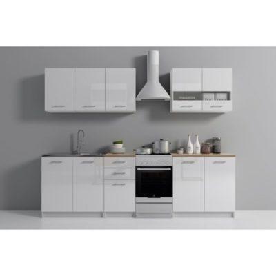 Kuchyňská sestava SET 200 dub/bílý lesk
