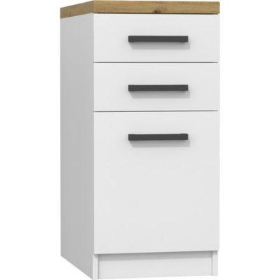 Kuchyňská skříňka s pracovní plochou 40 cm bílá/dub artisan