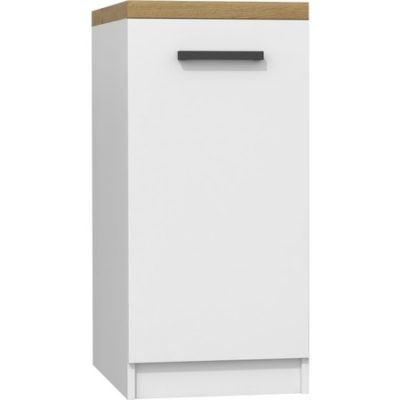Kuchyňská skříňka s pracovní plochou 45 cm bílá/dub artisan