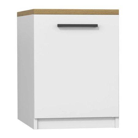 Kuchyňská skříňka s pracovní plochou 60 cm bílá/dub artisan
