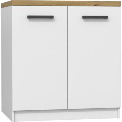 Kuchyňská skříňka s pracovní plochou 80 cm bílá/dub artisan