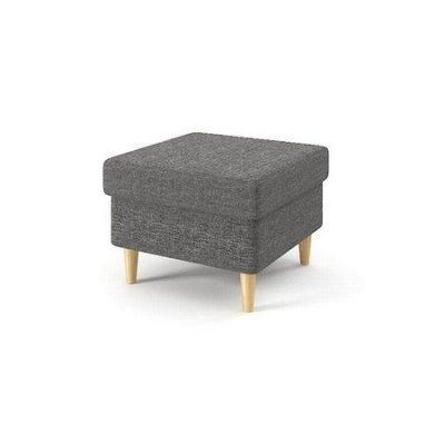Kvalitní čalouněný taburet (podnožka) Tmavě šedá