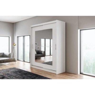 Kvalitní šatní skříň KOLA 12 bílá šířka 180 cm Včetně LED osvětlení