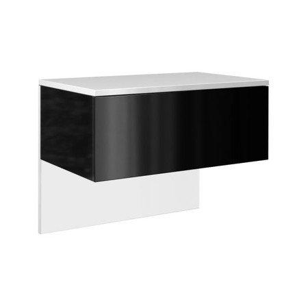 Noční stolek Lili bílý/černá lesklá
