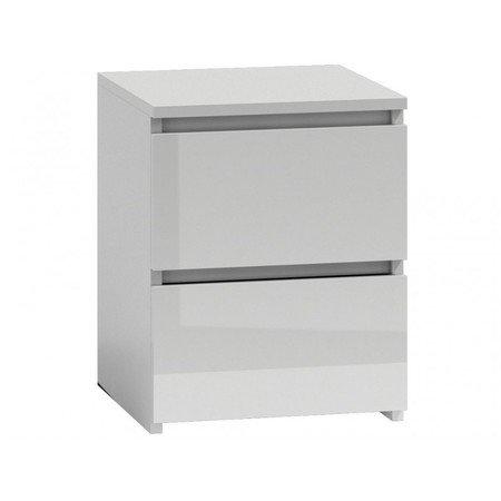 Noční stolek M2 bílá lesklá