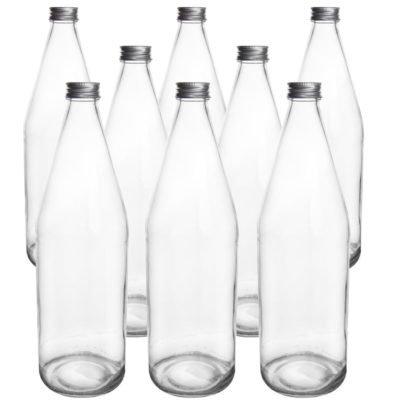 Orion Sada skleněných láhví s víčkem Edensaft 0