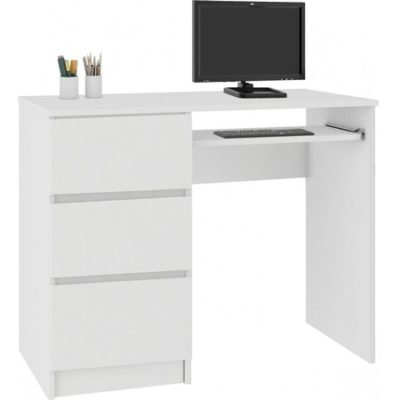 Počítačový stůl A-6 levá bílá