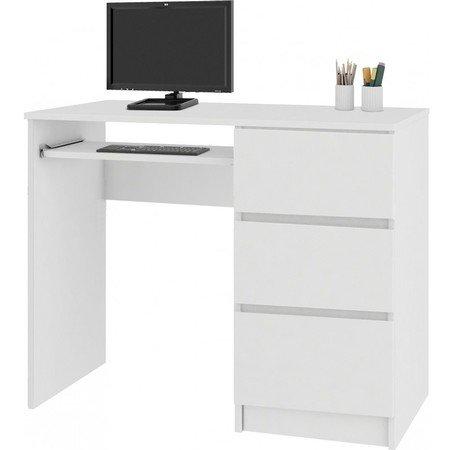 Počítačový stůl A-6 pravá bílá
