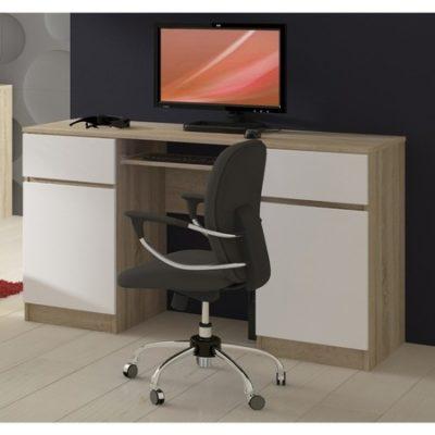 Počítačový stůl A5 Sonoma/bílá
