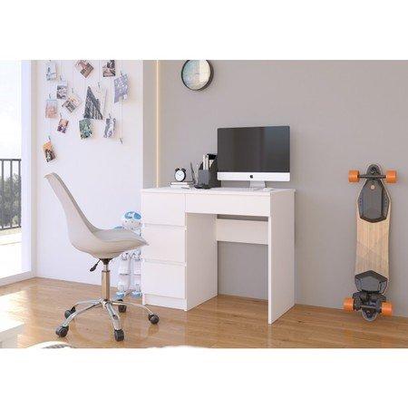 Počítačový stůl A7 bílá levá