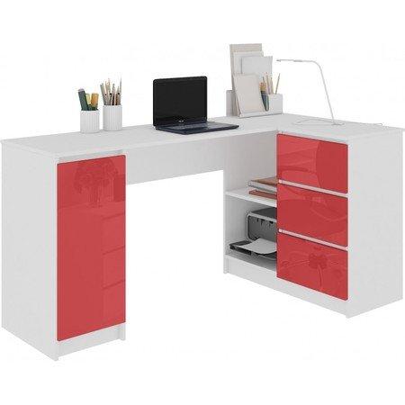 Počítačový stůl B-20 lesklá červená pravá