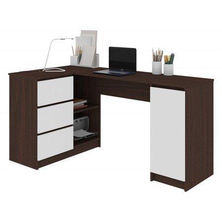 Počítačový stůl B-20 levá wenge/bílá