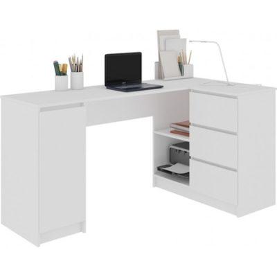 Počítačový stůl B-20 pravá bílá