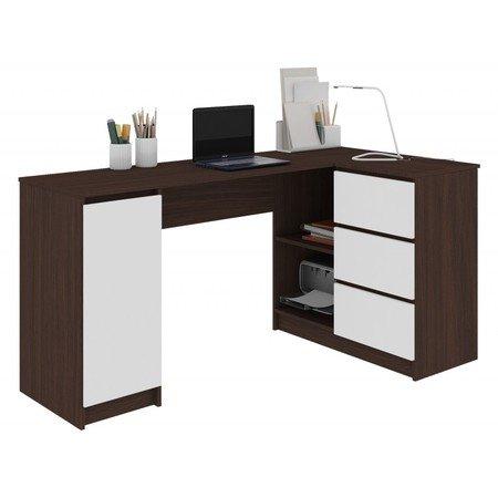 Počítačový stůl B-20 pravá wenge/bílá