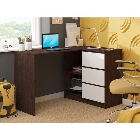 Počítačový stůl B16 pravá wenge/bílá