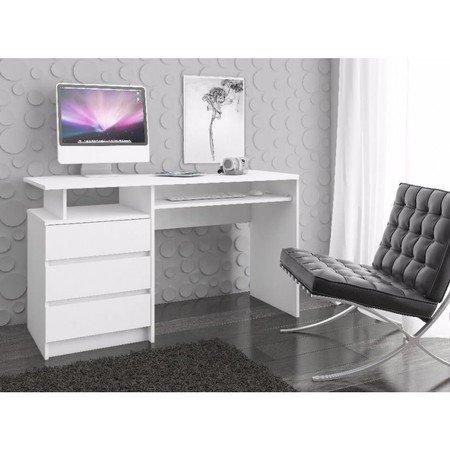 Počítačový stůl CLP 135cm bílá