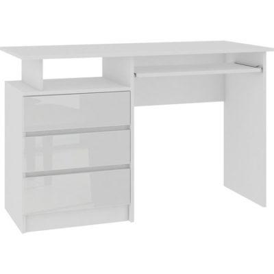 Počítačový stůl CLP lesklá bílá