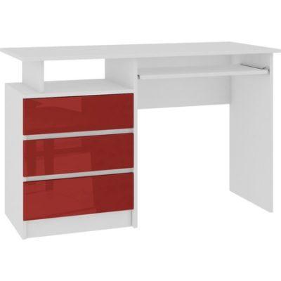 Počítačový stůl CLP lesklá červená