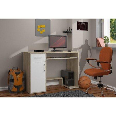 Počítačový stůl JAY sonoma/bílá