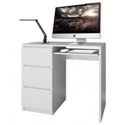 Počítačový stůl LIMA bílý mat levá