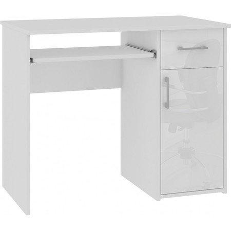 Počítačový stůl PIN lesklý bílá