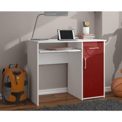 Počítačový stůl PIN lesklý červený