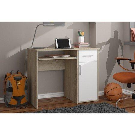 Počítačový stůl PIN sonoma/bílá