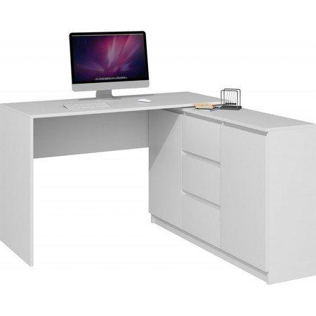 Počítačový stůl s komodou 2D3S bílý mat