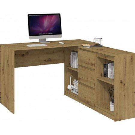 Počítačový stůl s komodou 2D3S dub artisan