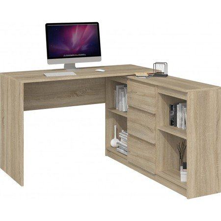 Počítačový stůl s komodou 2D3S dub sonoma