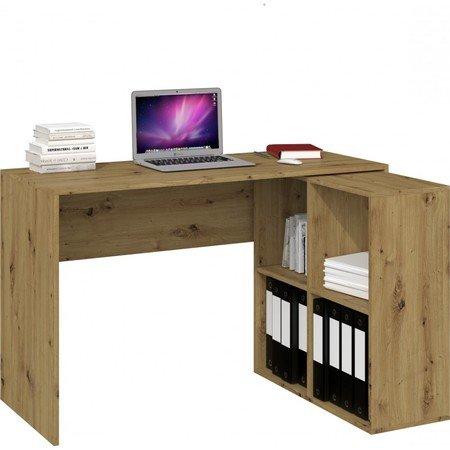 Počítačový stůl s regálem MALAX 2x2 dub artisan