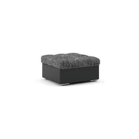 Podnožka VEGAS Tmavě šedá/černá eko-kůže