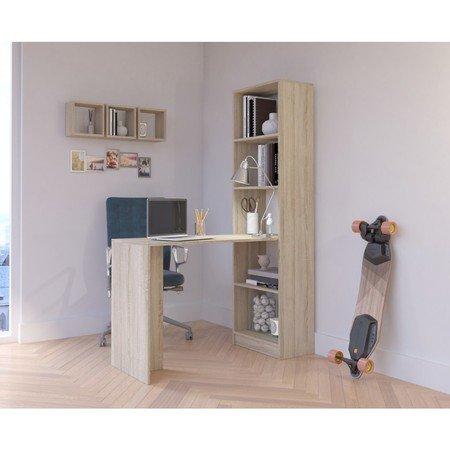 Pracovní stůl s regálem SMART dub sonoma